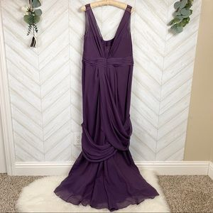 Vera Wang WHITE Ameythst Long Gown Size 16